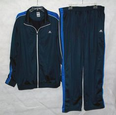 Russell Athletic Dark Blue Jogging Track sweat Suit Outfit Size 2 XL | eBay