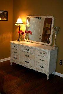 How I love french provincial furniture painted and restored. This dresser is the one who started my love affair with this furniture style....