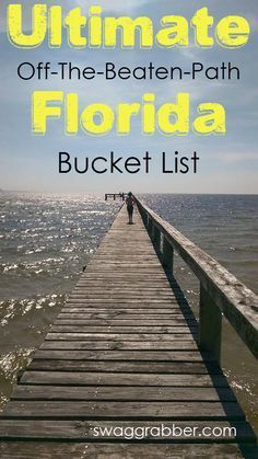 "Ultimate Off-The-Beaten-Path Florida Bucket List I was born and raised in Florida. Needless to say, I love Florida! I have spent my entire life finding ""off the beaten path"" adventures to take… Florida Keys, Visit Florida, Florida Living, Florida Vacation, Florida Travel, Florida Beaches, Travel Usa, Florida Trips, Orlando Vacation"