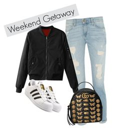 """""""Weekend Getaway"""" by thefleurstyle on Polyvore featuring moda, Gucci e adidas Originals"""