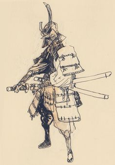 azertip:  blackyjunkgallery:Some samurais  Lovely work.