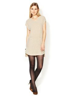 simple and clean. 3.1 Phillip Lim Brand Zipper Shoulder Wool Tunic