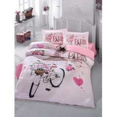 Bekata Paris Cotton Double-Full/Queen Size Quilt/Duvet Cover Set, Eiffel Tower Themed Paris Bedding Linens Reversible, PCS) *** Check this awesome product by going to the link at the image. (This is an affiliate link) Pink Paris Bedroom, Paris Bedding, Pink Bedrooms, Pink Bedding, Girls Bedroom, 100 Cotton Duvet Covers, Bed Duvet Covers, Duvet Cover Sets, Paris Room Decor