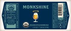 Uinta Brewing Co. Label Redesign: Monkshine « The Tenfold Collective Blog