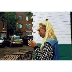 My girl next door #filmisnotdead #analoge #grain #hipstergirl #blonde #smoke #lightitup #brunch #urban #street #citylife #utrecht #developed #cameraroll #16mm #canonae1 #nofilter #nomodels #capturinglife #ontheroad