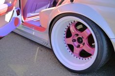 VIP pearlescent on pink faced Work Meister Pretty Cars, Cute Cars, Girly Car, Cute Car Accessories, Street Racing Cars, Rims For Cars, Car Mods, Drifting Cars, Car Colors