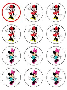 мини Minnie Mouse Party, Mouse Parties, Mickey Mouse, Niece Birthday, Birthday Parties, Bottle Cap Images, Printed Materials, Party Printables, Clipart