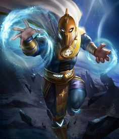 Doctor Fate from Injustice 2 Mobile Doctor Fate 3 Arte Dc Comics, Dc Comics Superheroes, Dc Comics Characters, Marvel Heroes, Character Drawing, Comic Character, Comic Books Art, Comic Art, Dc Animated Series
