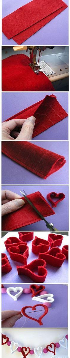 Heart chain... Cute idea