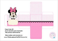 Uau! Veja o que temos para Caixa Cubo 3D Minnie Rosa Minnie Baby, Minnie Png, Minnie Mouse Cake, Scrapbook Da Disney, Mickey 1st Birthdays, Paper Box Template, Baby Shower Crafts, Paper Gift Box, Disney Birthday