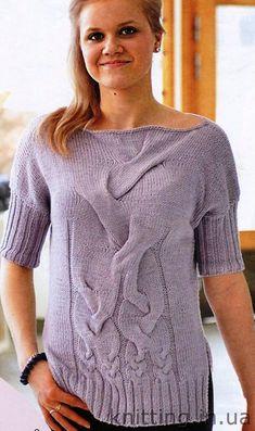 d444a868e1 Fonott mintás pulóver – Kötni jó – kötés, horgolás leírások, minták,  sémarajzok