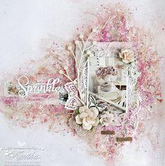 Kalalayaa's Art Stuido: Sparkly pink layout