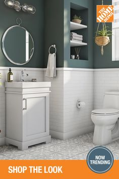 Make The Home Depot your online destination for renovation projects of all sizes to get your dream bathroom today. And you can start right here with great looks like this warm Modern Farmhouse style. Warm Bathroom, Diy Bathroom Decor, Bathroom Renos, Bathroom Renovations, Home Depot Bathroom, Concrete Bathroom, Bathroom Faucets, Bathroom Ideas, Bathroom Design Luxury