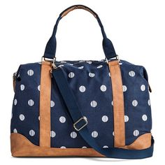 Women's Polka Dot Print Canvas Weekender Handbag with Removeable Crossbody Strap - Merona™ : Target