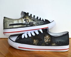 Custom Hand painted adult shoes The Walking Dead by BeressyArt, £75.00