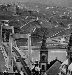 A Tabáni házak hűlt helye. Old Pictures, Old Photos, Budapest Hungary, Brooklyn Bridge, Historical Photos, Black And White Photography, Old World, Beautiful Places, Marvel