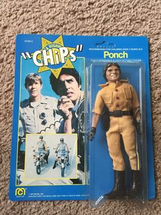 "Francis Poncherello ""Ponch"" (Erik Estrada) of CHiPs Action Figure by Mego, 1977 Childhood Toys, Childhood Memories, Vintage Toys 80s, Weird Toys, Old School Toys, Cartoon Tv Shows, Unique Toys, 80s Kids, Thundercats"
