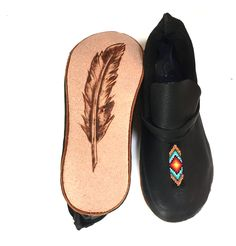 Some say laughter is the best medicine...we say it's mocs! :) #moccasins #deerskin #beadart #beaded #footwear #plains #native #comfort #unisex #nativemade #native #style #handmade with #love