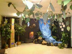 Jungle safari vbs decorations! Love it!