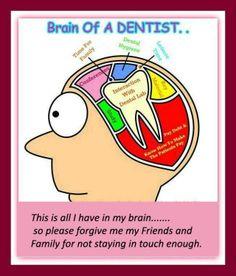 Brain of a dentist… #Dentist #Dental Jokes #Hygienist Ofdentalcare.com