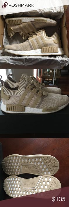 NMD_R1 PK size 13 Brand new never worn still with box. Size 13, Khaki color, inserts still in. adidas Shoes Sneakers