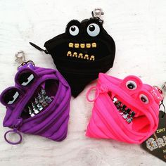 【ZIPIT GRILLZ MINI POUCH】  New Arrival! One zipper changes to a pouch!? Very unique and functional bag series by ZIPIT