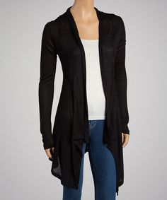 b387bc861f7 Take a look at this Black Hacci Open Cardigan by Zenana on  zulily today!