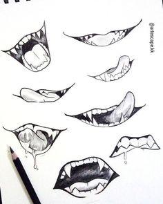Body Drawing Tutorial, Drawing Tutorials, Art Tutorials, Manga Tutorial, Anime Hand, Sketch Mouth, Anime Mouth Drawing, Spine Drawing, Dagger Drawing