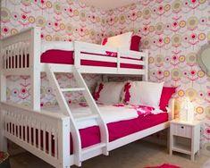Habitación rosa para dos niñas