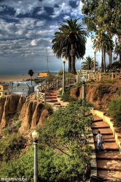Palisades Park in Santa Monica, California.