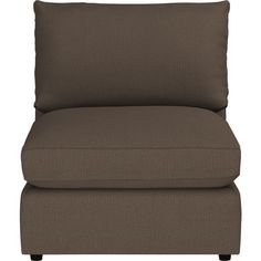 """Lounge 32"""" Sectional Armless Chair in Sectional Sofas   Crate and Barrel"""