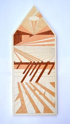 Tower Wooden inlay, 2015 (80x30 cm)