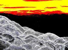ARTES, DESARTES E DESASTRES CONTEMPORÂNEOS.  Novo Panorama Lunar Técnica Mista (Acrílica e nanquim com interferências digitais) sobre papel