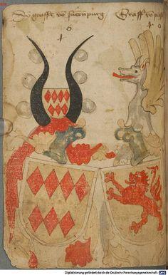 Ortenburger Wappenbuch Bayern, 1466 - 1473 Cod.icon. 308 u  Folio 77v