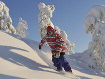 Snowboarding in Vuokatti, Sotkamo, Finland