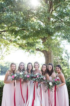 ... OK Wedding Tulsa Garden Center. See More. Bridesmaid Outdoor Photos  With Red, Pink, White, And Eucalyptus Bouquets From Tulsa Whole