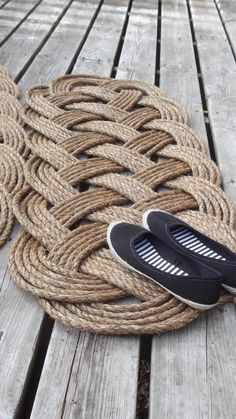 Nautical Decor - Patio Doormat and Runner - Six Bight Ocean Mat - Country Western Decor via Etsy