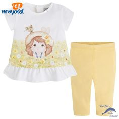 Conjunto de bebe niña MAYORAL camiseta y leggins girasol