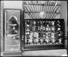 Bashford Dean's 1904 installation of the Duc de Dino collection, photographed in 1907.