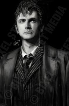 This is so very very cool! Doctor Who - The Tenth Doctor - David Tennant  - The End of Time - 11 inch x 17 inch - Semi-Gloss Poster Print