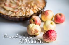 Healthy and delicious protein applepie