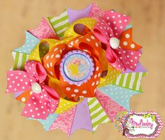 Easter Chick Bow Bright Easter Hairbow OTT Bow by ModBabyDesigns, $14.50
