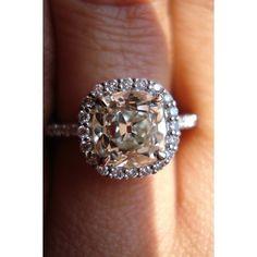 OMC diamond | Old Mine Cut Diamond Ring | Antique Diamond Ring ❤ liked on Polyvore