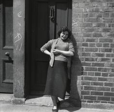 Betty Young on her doorstep, 1958 - Scotswood Road - Photography - Amber Online