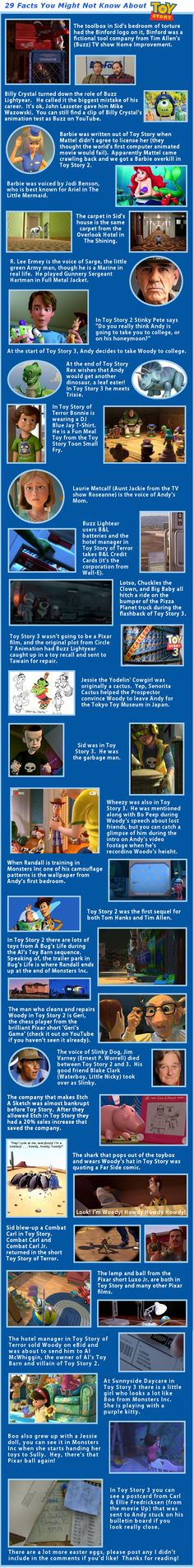 Toy Story Facts You May Not Know. These blew my mind!