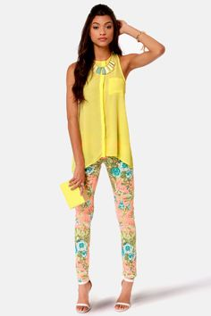 Fun Yellow Top - Tank Top - $35.00  this whole outfit is just to cute