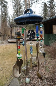 Wind Chime from Repurposed Items