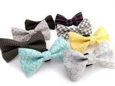 PUPPY BOW TIE!!!!! :) Cuz, you know.... bowties are cool. Upgrade Removeable Bowtie for Dog Collar by theKozieCanine, $9.99