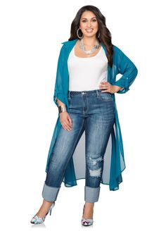 Destructed Cuffed Jeans Destructed Cuffed Jeans