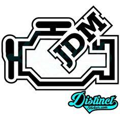 T-shirt check Engine sticker moteur Contrôle OEM JDM tuning Dub shocker